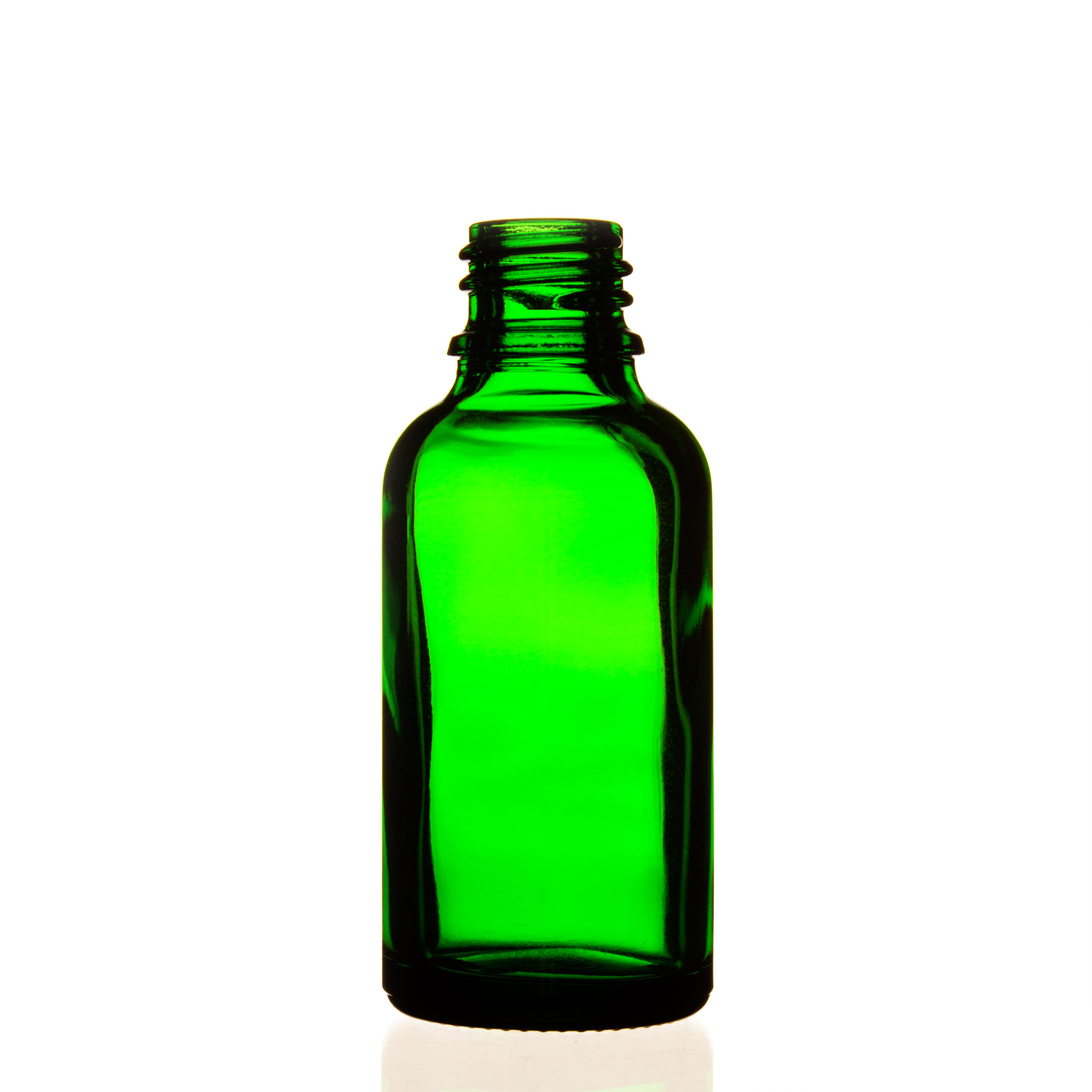 Frasco vidrio tipo III verde DIN18 30ml